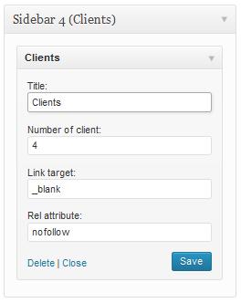 clients widget