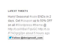 DW Twitter Widget Frontend
