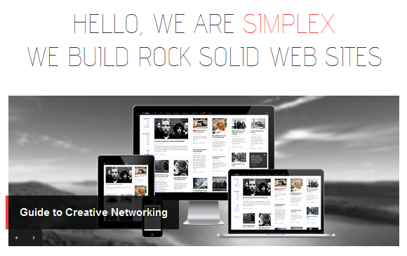 Slides on Home page