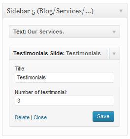 Testimonials Slide Widgets