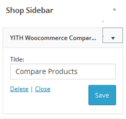 Compare Products Settings