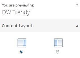 Content Layout Settings