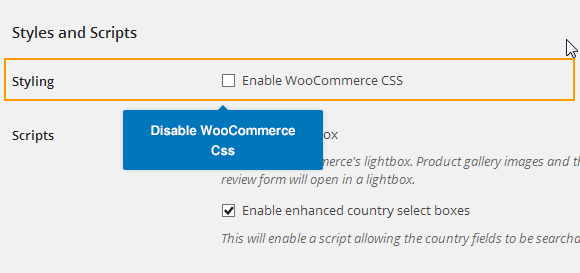 Disable WooCommerce Css