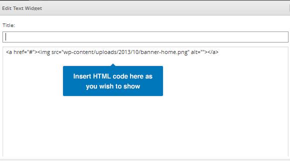 Insert HTML Code into Text Widget