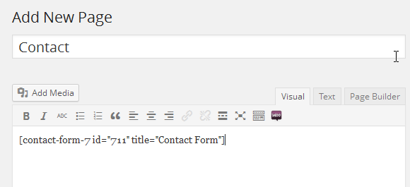 Paste the shortcode into the page
