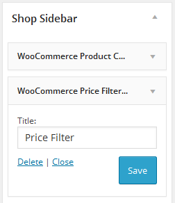 Price Filter Widget Setting