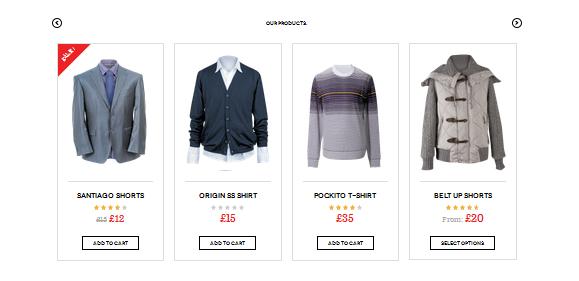WoooCommerce Products Slide