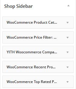 Shop Sidebar Settings