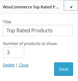 Settings of WooCommerce Top Related Products Widget