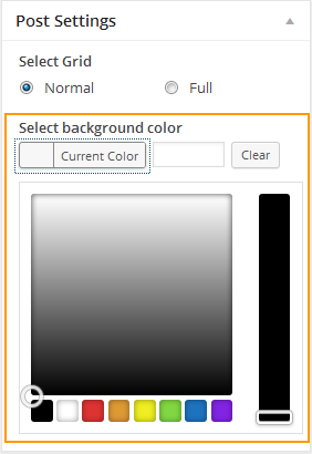 Select background color for the post