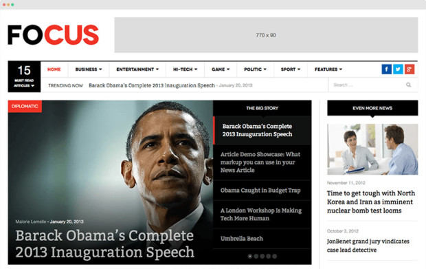 DW Focus - Responsive News Theme
