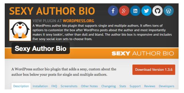 Sexy author bio plugin
