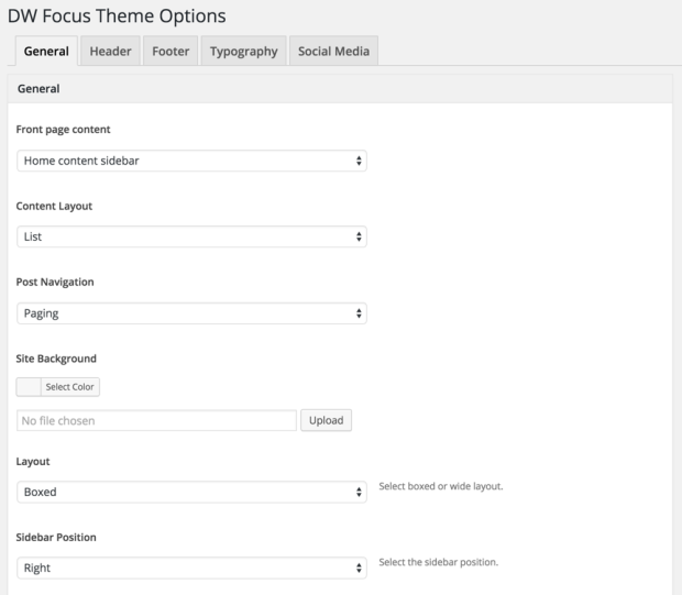 Intuitive Theme Setting Panel