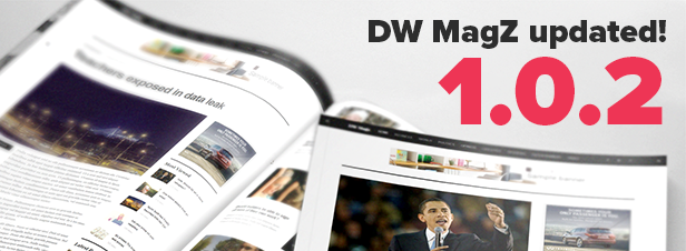 wordpress best magazine theme DW MagZ update