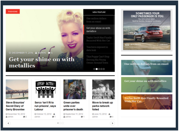wordpress best magazine theme dw magz page