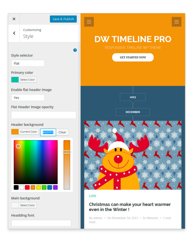timeline customize