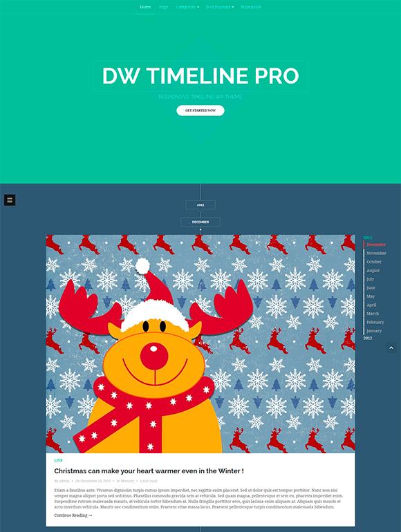 timeline wordpress theme