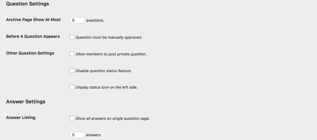 question-answer-setting