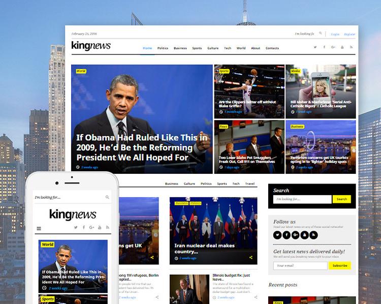 Top 15 News & Magazine WordPress Themes   DesignWall