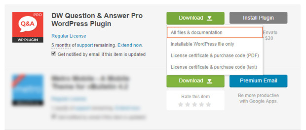 Download a source from Codecanyon