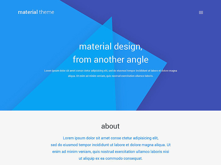 Material Design and WordPress Themes
