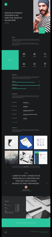 preview dw resumé awesome cv portfolio resumé wordpress theme