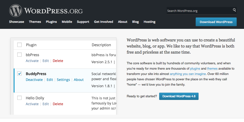 Go to WordPress.org to download WordPress latest stable version