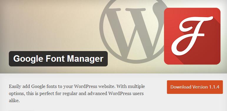 4-google-font-manager