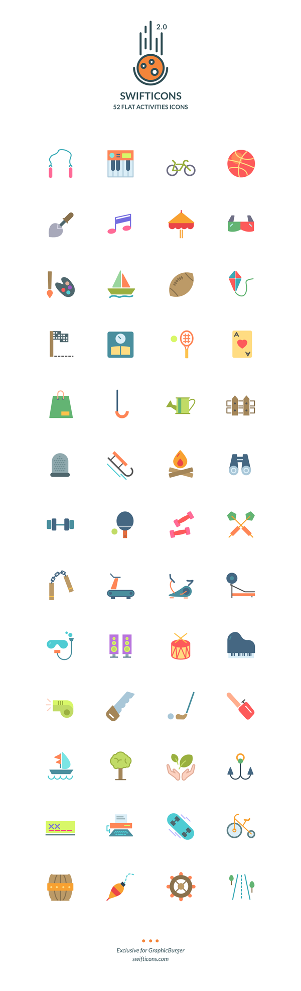 20-flat-activities-icons