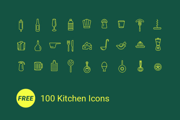 100_free_kitchen_icons