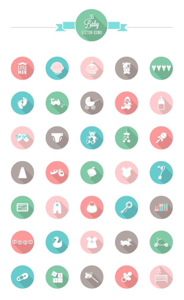 31-baby-icon-set