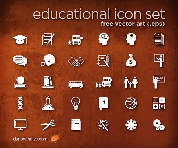 36-educationaliconsetfreevectorart