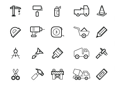 f261afe872e3 50 Free Vector Construction Icons