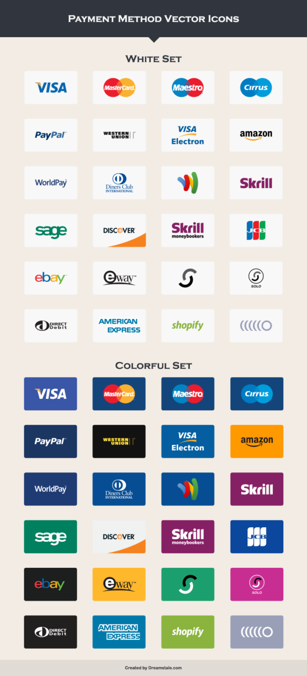 7-payment-method-vector-icons