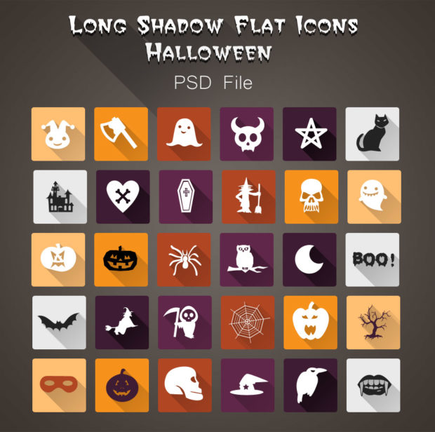 long-shadow-flat-halloween-psd-icons
