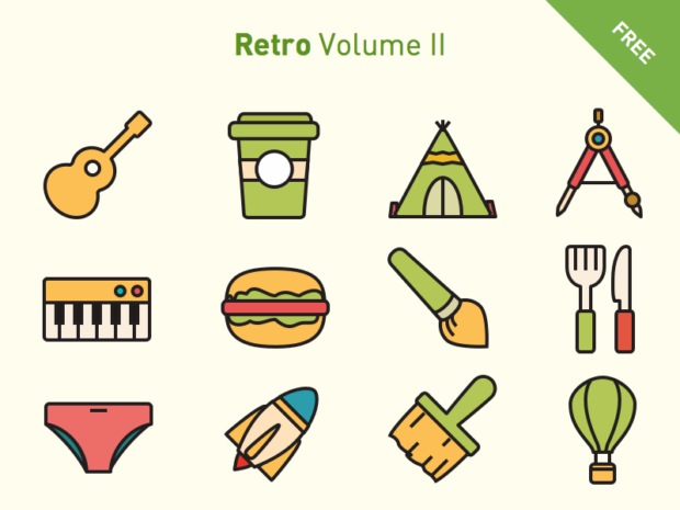 6da7037022e8 Free vector icons  Retro Volume 2