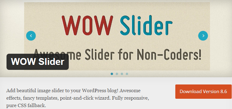 How to add images in wow slider in wordpress