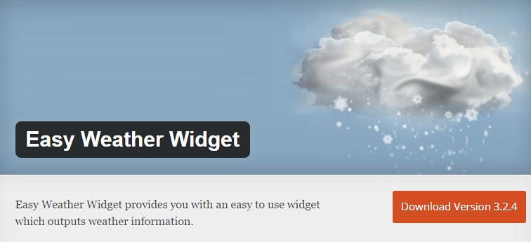 easy weather widget
