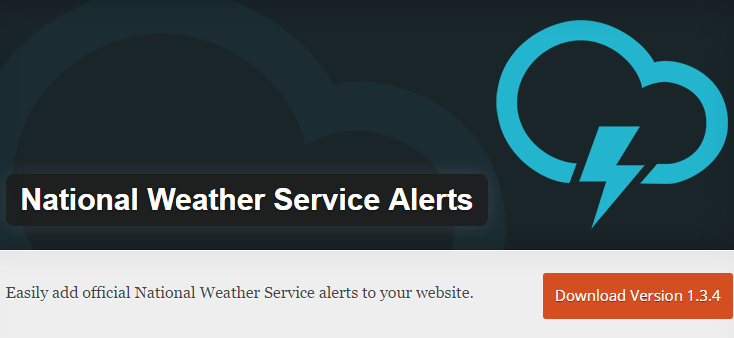National Weather service update as the name suggests is a WordPress plug-in which displays for National alerts on your side by the widget area. The information is pulled directly from alert.weather.gov so the information your visitors are receiving is super accurate and trustworthy.