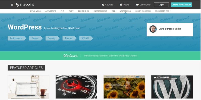 SitePoint WordPress Blog