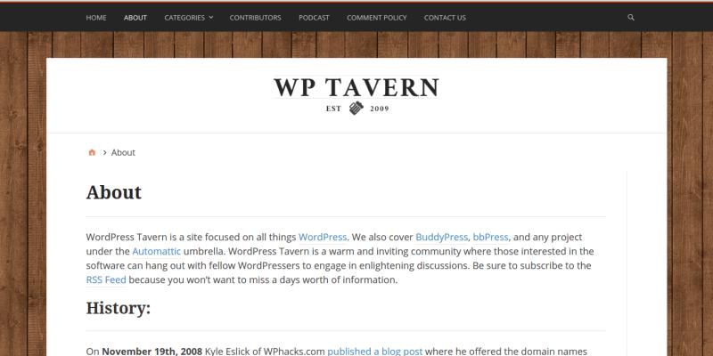 WPTavern WordPress Blog