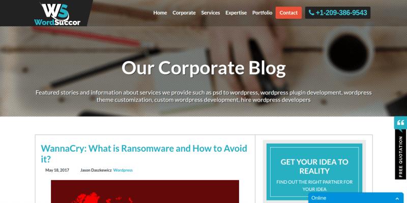 Wordsuccor WordPress Blog