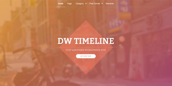 Free timeline WordPress theme - DW Timeline