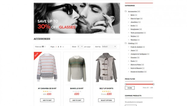 WooCommerce WordPress theme DW Trendy