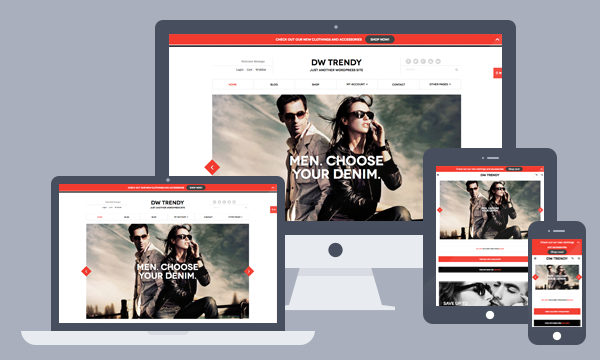 Responsive eCommerce WordPress theme DW Trendy