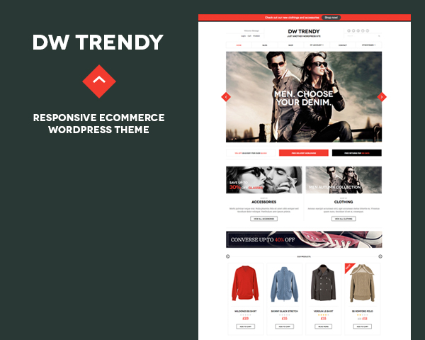 Responsive WordPress theme for eCommerce DW Trendy