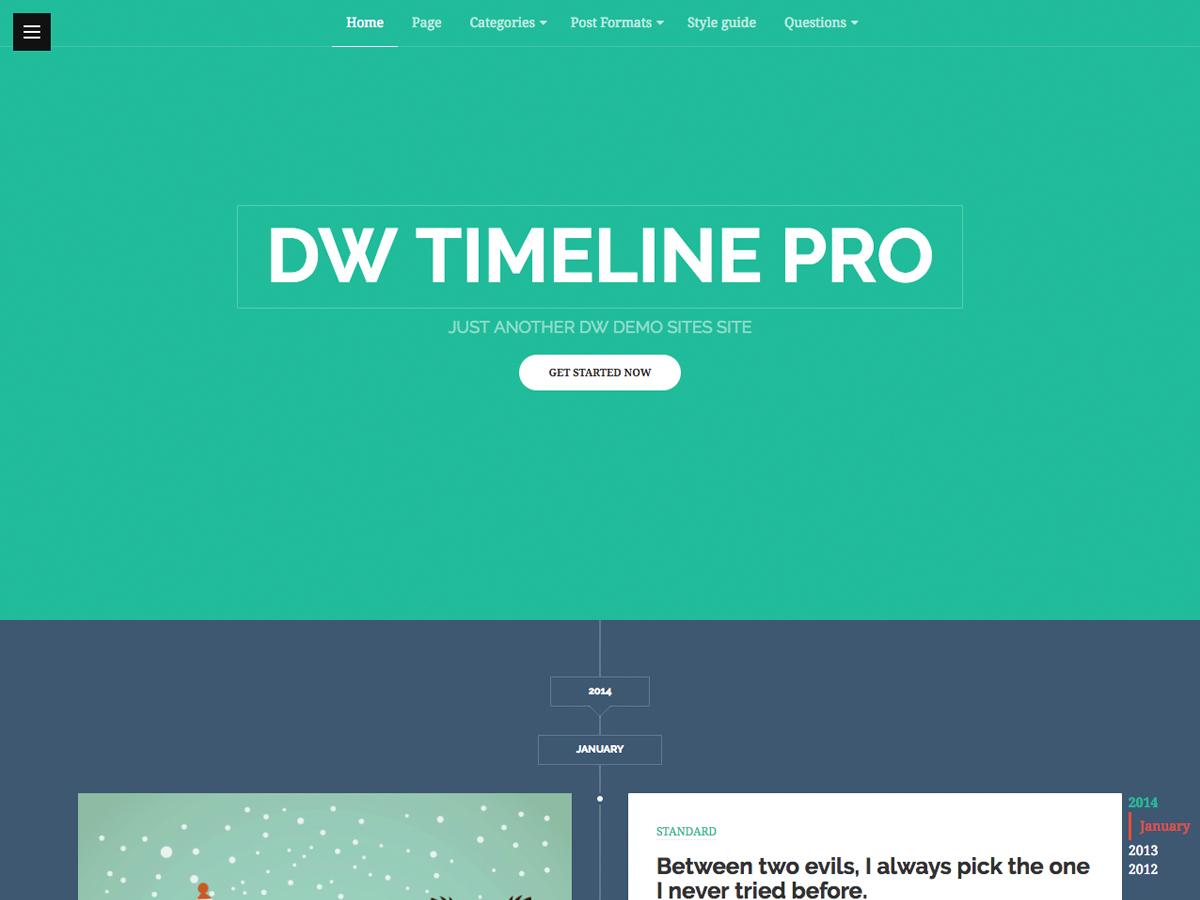 WordPress Timeline Theme – DW Timeline Pro | DesignWall