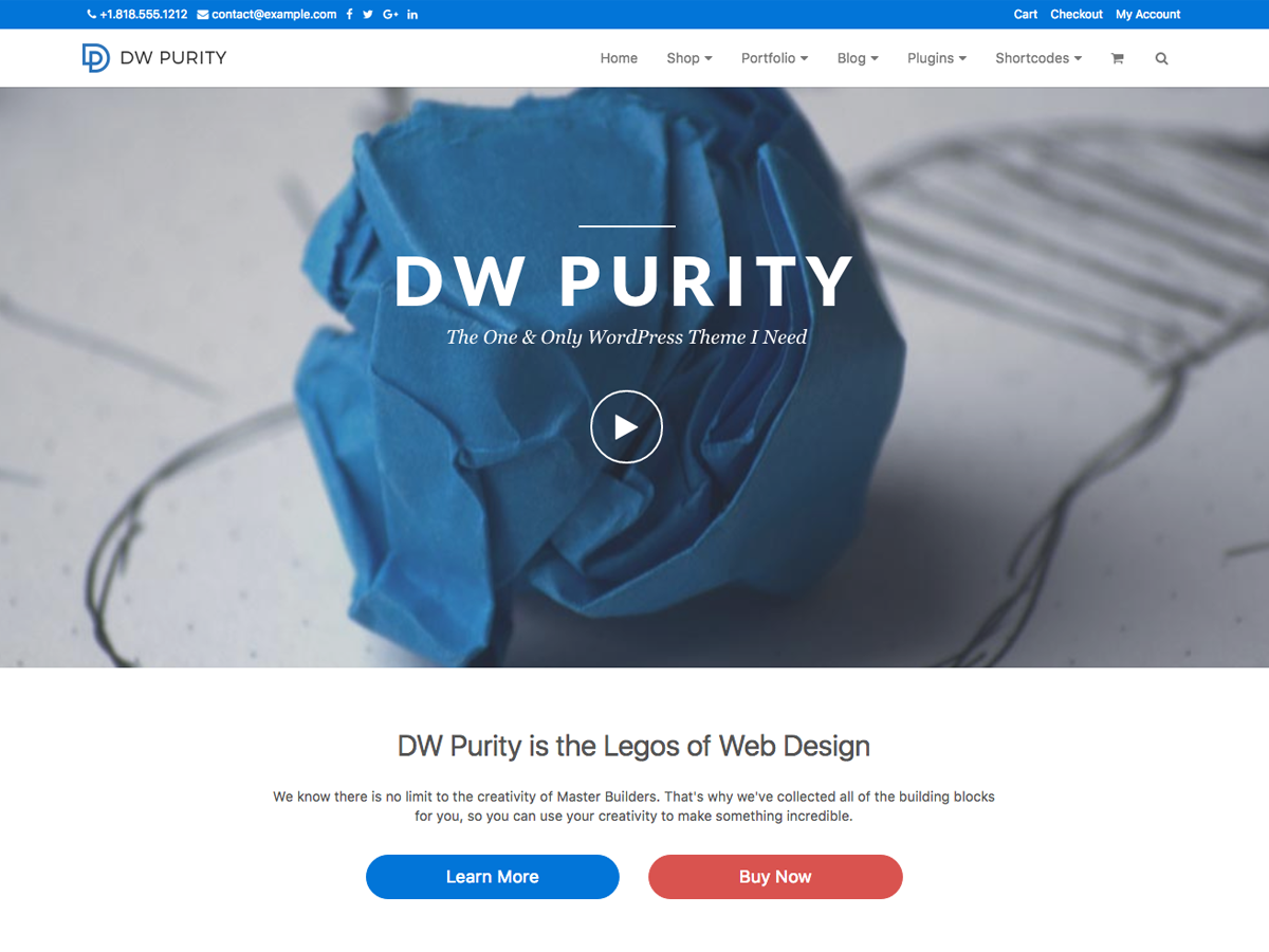 DW Purity - The One & Only WordPress Theme I Need