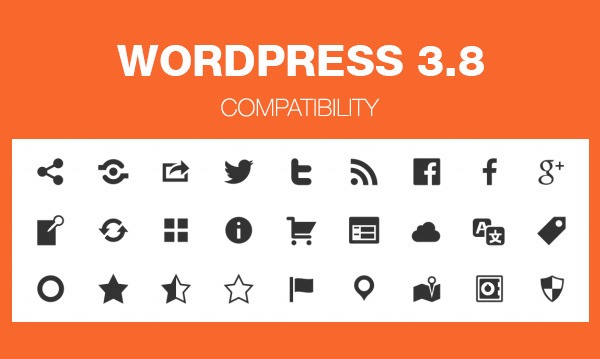 WordPress 3.8 compatibility